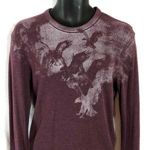 AMERICAN EAGLE Long Sleeve THERMAL Knit Shirt M